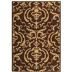 Safavieh Indoor/ Outdoor Bimini Chocolate/ Natural Rug (6'7 x 9'6)