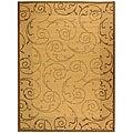 Safavieh Indoor/ Outdoor Oasis Natural/ Brown Rug (6'7 x 9'6)