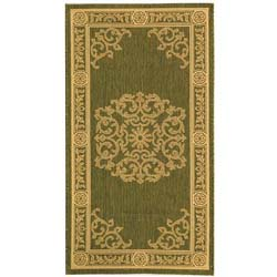 Safavieh Indoor/ Outdoor Sunny Olive/ Natural Rug (2'7 x 5')