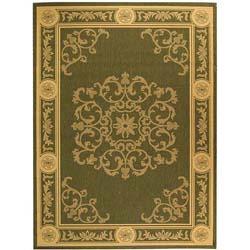 Safavieh Indoor/ Outdoor Sunny Olive/ Natural Rug (7'10 x 11')