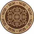 Safavieh Indoor/ Outdoor Sunny Chocolate/ Natural Rug (5'3 Round)