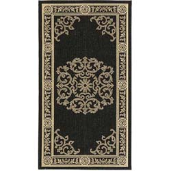 Safavieh Indoor/ Outdoor Sunny Black/ Sand Rug (2'7 x 5')