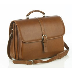 Aston Leather Executive Double Compartment Briefcase