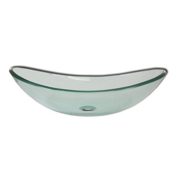 Levana Modern Glass Bathroom Vessel Sink