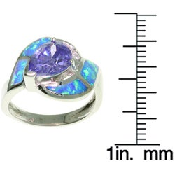 CGC Sterling Silver Opal and CZ Magnificent Ring