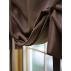 Solid Insulated 63-inch Blackout Tie Up Shade