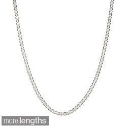 Simon Frank Rhodium Silvertone 4mm Gucci-style Chain (20-30 inch)