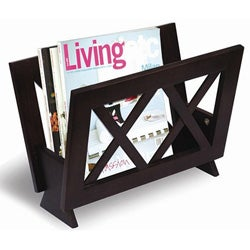 X-design Wood Magazine Rack