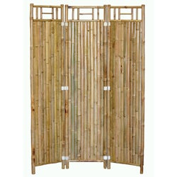 Handcrafted 3-panel Bamboo Screen (Vietnam)