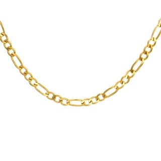 Sterling Essentials 14K Gold over Silver 4mm Figaro Chain (18-30 inches)