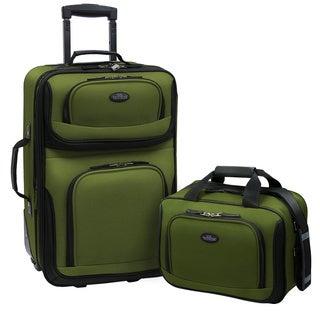 U.S. Traveler by Traveler's Choice RIO 2-piece Expandable Carry-on Luggage Set
