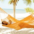 Hand-woven 'Orange Sonata' Hammock (Mexico)