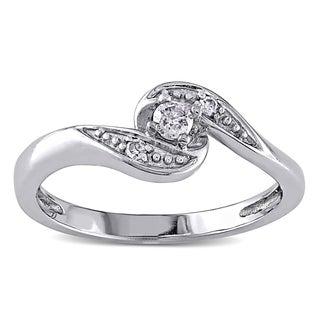 Haylee Jewels 10k White Gold Diamond Promise Ring ( I/J, I2-I3)