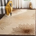 Safavieh Handmade Soho Burst Beige New Zealand Wool Rug (5' x 8')