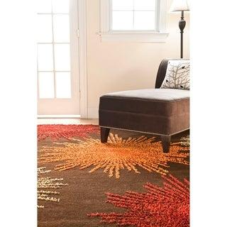 Safavieh Handmade Soho Burst Brown New Zealand Wool Rug (9'6 x 13'6)