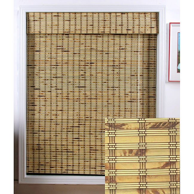 Rustique Bamboo Roman Shade (51 in. x 74 in.)