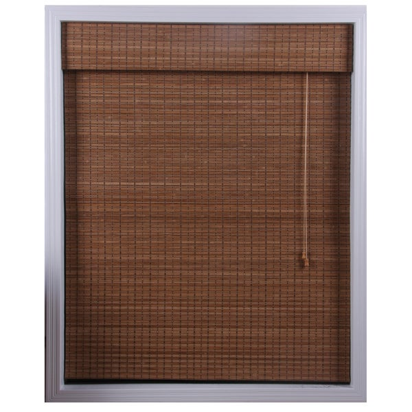 Ginger Bamboo Roman Shade (33 in. x 74 in.)