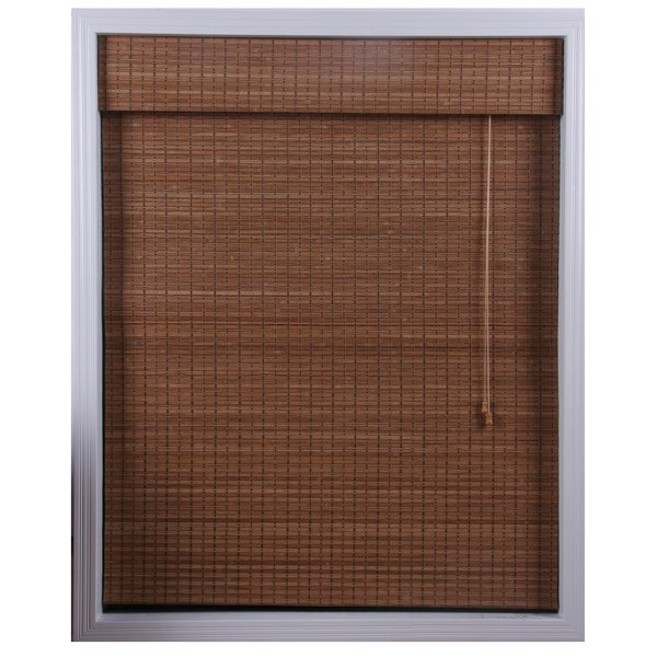 Ginger Bamboo Roman Shade (38 in. x 74 in.)