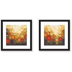 Sean Jacobs 'Garden Party' 2-piece Framed Art Print Set