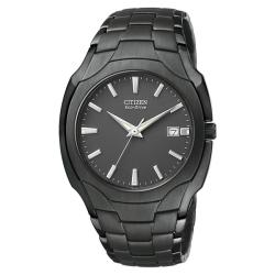 Citizen Men's Eco-Drive Ion-plated Black Stainless Steel Watch