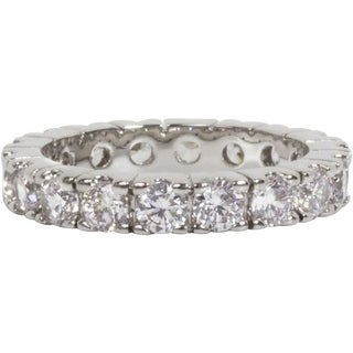 Simon Frank Gold Overlay Stackable Cubic Zirconia Eternity Band