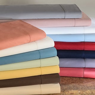 Hemstitch 400 Thread Count Solid Pillowcases (Set of 2)