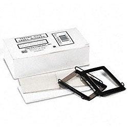 Spring-Lock 1.5-inch Metal Label Holders for Binders (Pack of 12)
