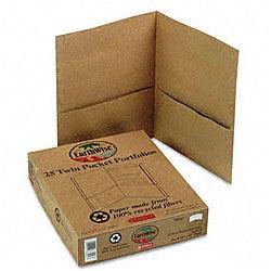 Natural Twin Pocket Portfolios - Recycled (25 per Box)