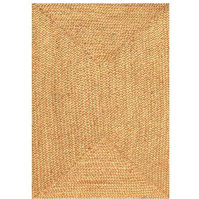 Hand-woven Braided Jute Rug (6' x 9')