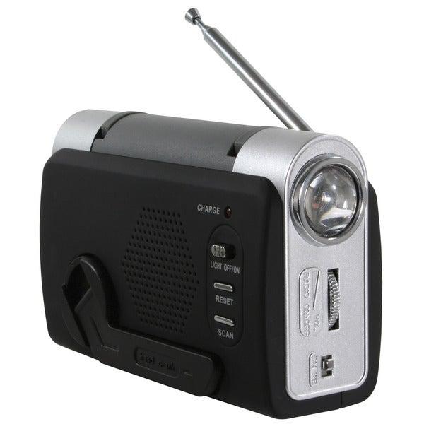 Buffalo Hand Crank Emergency LED Light FM Radio