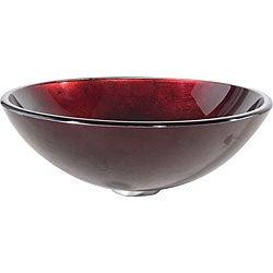 Kraus Irruption Galaxy Red Glass Vessel Sink