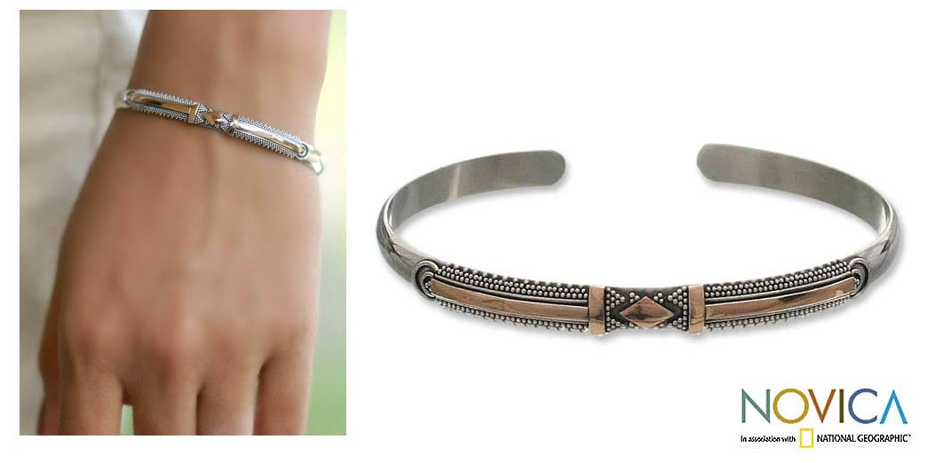 18k Goldplated Silver 'Truth' Bracelet (Indonesia)