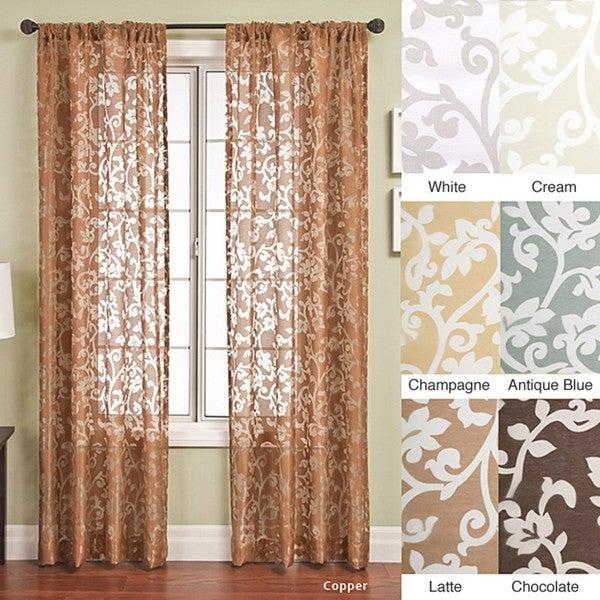 Bellino Scroll Rod Pocket 96-inch Curtain Panel