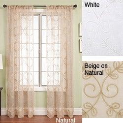 Monroe Rod Pocket 84-inch Window Panel