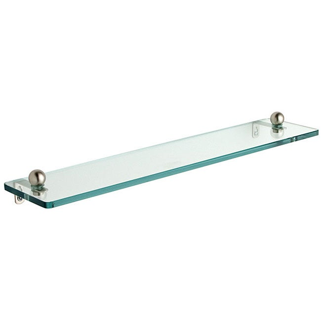 Tempered Glass 16-inch Bathroom Shelf