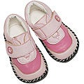 Papush Pink Leather Infant Walking Shoes