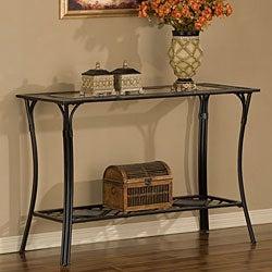 Slate/ Glass/ Steel Sofa Table
