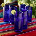 Set of 6 Blown Glass 'Pure Cobalt' Highball Glasses (Mexico)