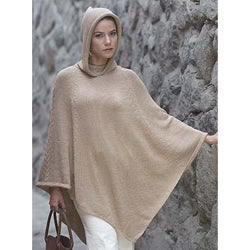 'Tan Riding Hood' Alpaca Wool Poncho (Peru)
