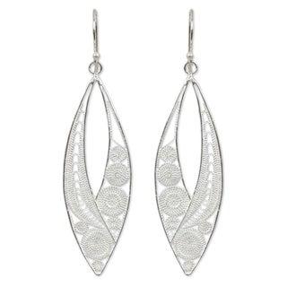 Sterling Silver 'Tendrils' Earrings (Thailand)