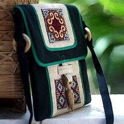 Hemp 'Colors of the Night' Shoulder Bag (Thailand)