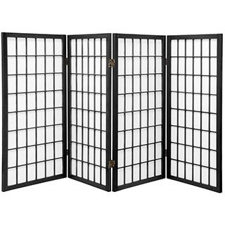 Wood/ Paper Panel Miniature Windowpane Shoji Screen (China)