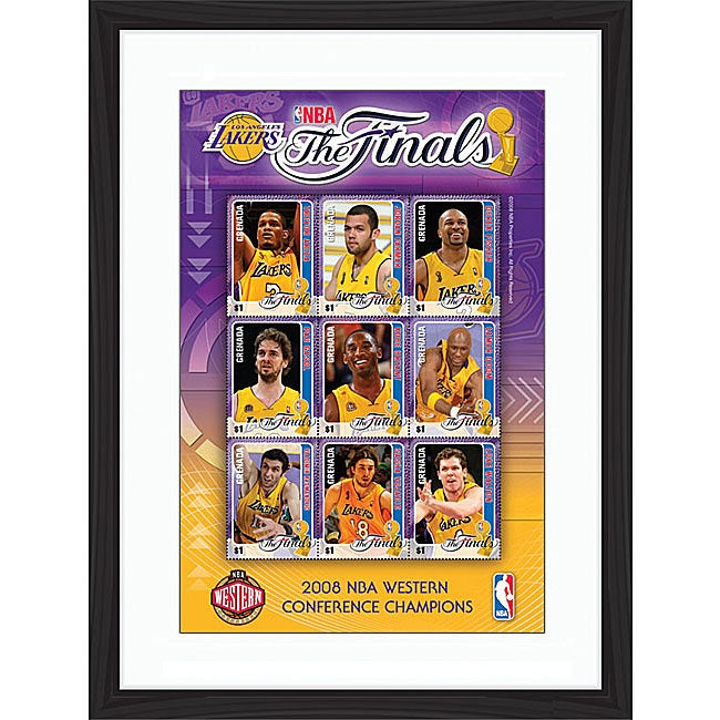 LA Lakers 2008 Western Conference Champions Framed Stamp