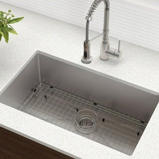 Kraus 30-inch Undermount Single Bowl Steel Kitchen Sink