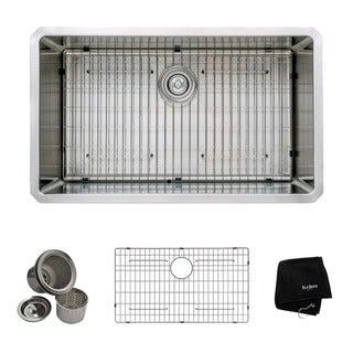 Kraus 32-inch Undermount Single Bowl Steel Kitchen Sink