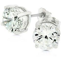 Kate Bissett Sterling Silver Cubic Zirconia Stud Earrings