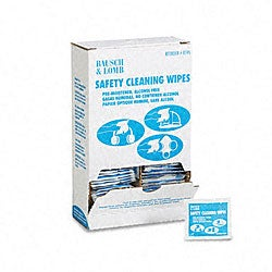 Bausch and Lomb Antibacterial Safety Cleaning Wipes
