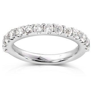 Annello 14k White Gold 3/4ct TDW Diamond Wedding Band (G-H, I1-I2)