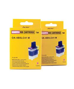 Magenta Ink Cartridge for Brother LC41M (Pack of 2)
