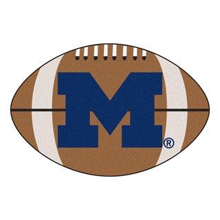 Fanmats NCAA University of Michigan Football-shaped Rug